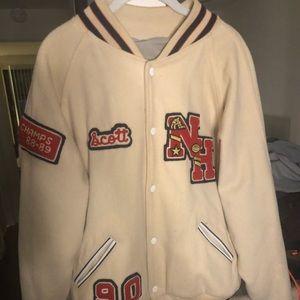 90s vintage letterman jacket size large
